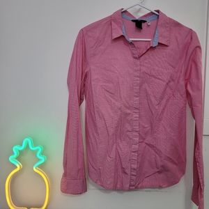 H&m Pink button up long sleeves blouse